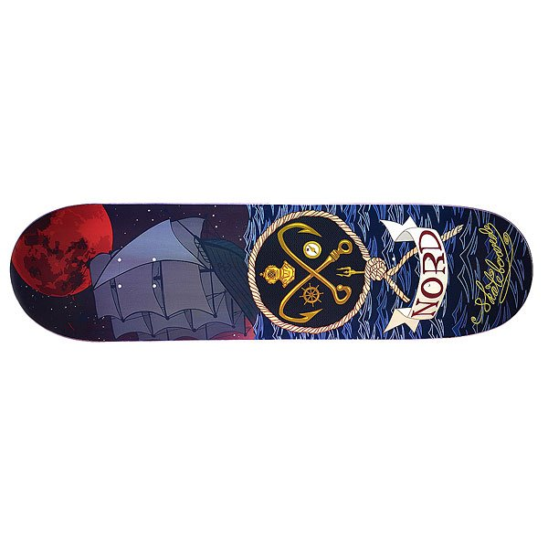 Дека для скейтборда для скейтборда Nord Skateboards Море Multicolor 33.25 x 8.5 (21.6 см)