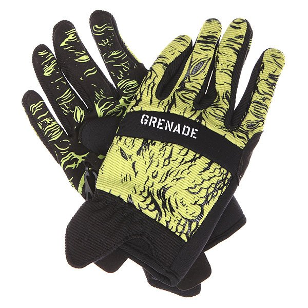Перчатки детские Grenade Lizard Slime<br><br>Цвет: черный,зеленый<br>Тип: Перчатки<br>Возраст: Детский