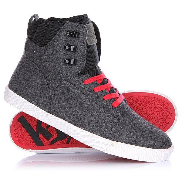 Кеды кроссовки Высокие K1X State Te Wool/Red<br><br>Цвет: серый<br>Тип: Кеды высокие<br>Возраст: Взрослый<br>Пол: Мужской