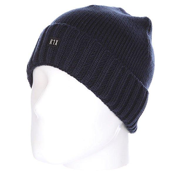 Шапка K1X Authentic Knit Beanie Navy Heather<br><br>Цвет: синий<br>Тип: Шапка<br>Возраст: Взрослый<br>Пол: Мужской