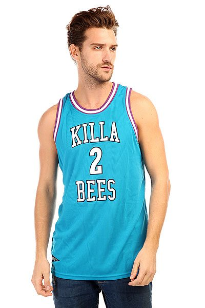 Майка K1X Killa Bees Mesh Jersey Mint/White<br><br>Цвет: голубой<br>Тип: Майка<br>Возраст: Взрослый<br>Пол: Мужской