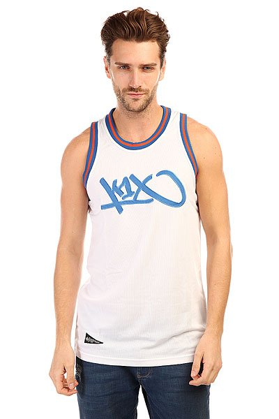 Майка K1X Tag Mesh Jersey White/Blue<br><br>Цвет: белый,синий<br>Тип: Майка<br>Возраст: Взрослый<br>Пол: Мужской