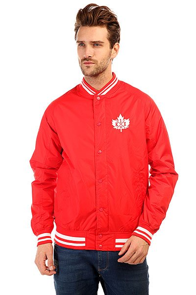 Бомбер K1X Leaf Varsity Jacket Red/White