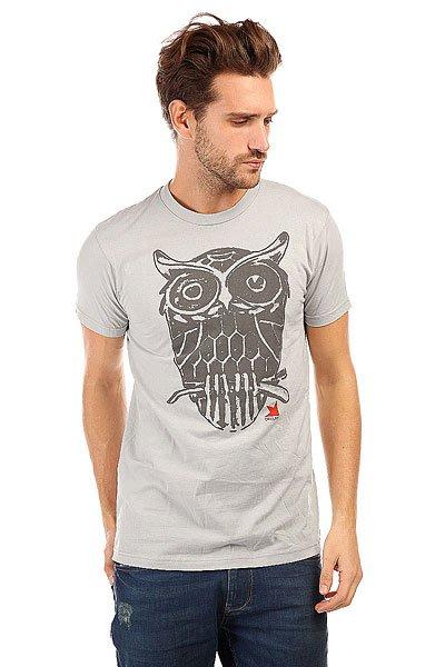Футболка Dekline Owl Silver<br><br>Цвет: бежевый<br>Тип: Футболка<br>Возраст: Взрослый<br>Пол: Мужской