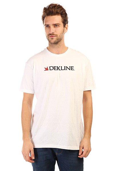 Футболка Dekline Bar Logo White<br><br>Цвет: белый<br>Тип: Футболка<br>Возраст: Взрослый<br>Пол: Мужской