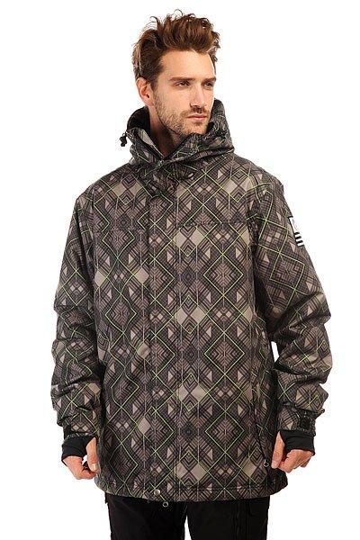 Куртка Grenade Hunter GrayОтличная сноубордическая куртка для комфортного катания.Характеристики:Внутренняя ткань – тафта. Фиксированный капюшон. Двойная застежка – молния.Внешние карманы для рук.  Карман для медиа-плеера. Эластичные лайкровые манжеты с прорезями для больших пальцев. Снегозащитная «юбка».Карман для ски-пасса.Регулируемые манжеты на липучках. Фасон: стандартный (regular fit).<br><br>Цвет: серый<br>Тип: Куртка утепленная<br>Возраст: Взрослый<br>Пол: Мужской