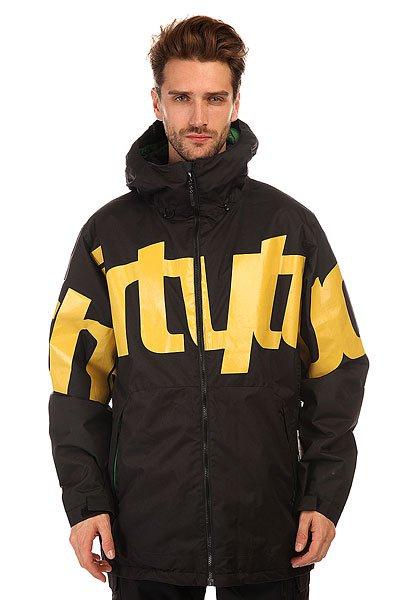 Куртка Thirty Two Lowdown Jacket Insulated Black/YellowУтепленная куртка Thirty Two Lowdown сочетает в себе максимум технологий для вашего комфортного времяпровождения.Характеристики:Внутренняя подкладка из тафты. Утеплитель – 60 гр Level 1.Застежка-молния. Швы проклеены влагонепроницаемой лентой.Внутренний карман для защитной маски. Регулируемые манжеты на липучках. Медиа-карман для плеера. Карман для ски-пасса.Вентиляционные отверстия подмышками на молнии Pit Zips. Эластичные дополнительные манжеты с прорезями для больших пальцев.Фиксированная снегозащитная «юбка». Утепленные прорезные карманы для рук.Фасон: стандартный (regular fit).<br><br>Цвет: черный,зеленый<br>Тип: Куртка утепленная<br>Возраст: Взрослый<br>Пол: Мужской