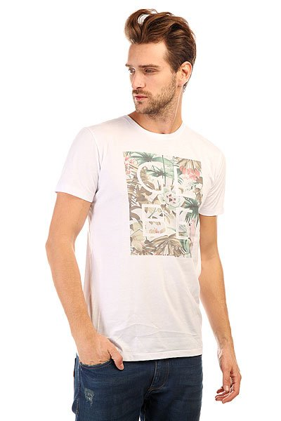 Футболка Globe Box Fill Tee White Jungle