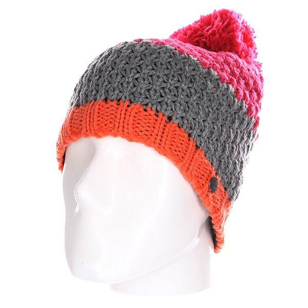 Шапка женская Roxy From The Block Heritage Heather<br><br>Цвет: розовый,серый,оранжевый<br>Тип: Шапка<br>Возраст: Взрослый<br>Пол: Женский