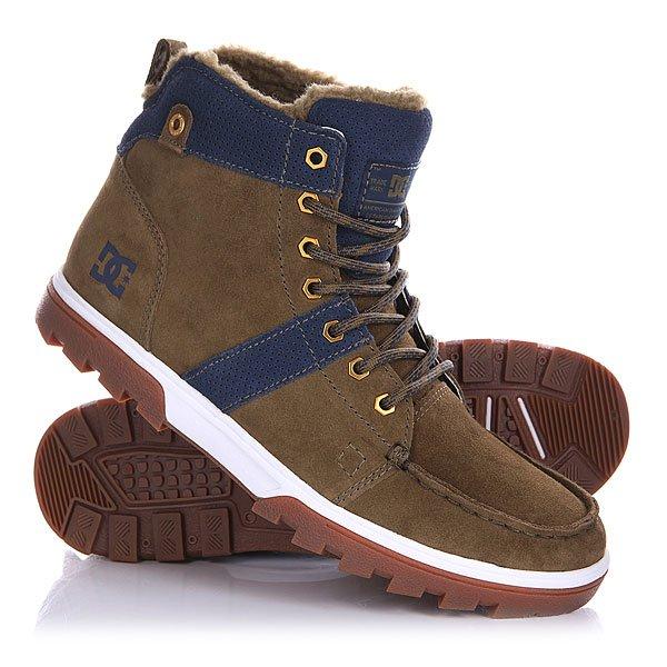 Ботинки зимние DC Woodland MilitaryDC Woodland Military - мужские зимние ботинки.                         Технические характеристики: Подкладка из шерпы.Удобный язык и лодыжка с пенным наполнителем.Шестигранные металлические люверсы. Грубая каучуковая подошва.<br><br>Цвет: зеленый,синий<br>Тип: Ботинки зимние<br>Возраст: Взрослый<br>Пол: Мужской