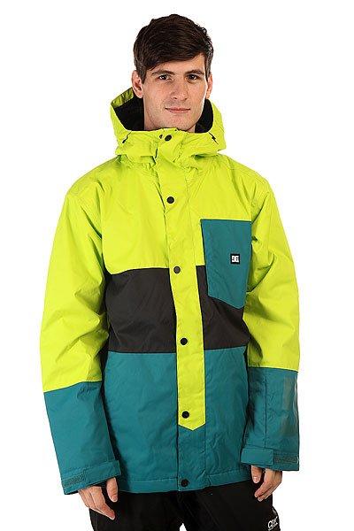 Куртка DC Defy Jkt Lime PunchНадежная защита от любой непогоды и смелый, асимметричный стиль делают куртку DC Defy отличным выбором, независимо от того, где Вы можете оказаться. Влагостойкий материал Exotex 10K в сочетании с утеплителем сохранят Вас в тепле и сухости, а сетчатые карманы для вентиляции позволят отрегулировать температуру прямо на ходу.                                                                Технические характеристики: Утеплитель -тинсулейт.Подкладка - тафта.Водонепроницаемая мембрана - Exotex 10K(10 000 мм / 10 000 г).Проклеенные швы. Высокий воротник стойка.Фиксированный  капюшон.Сеточная вентиляция.Фиксированная снежная юбка.Манжеты из лайкры с отверстием для большого пальца.Подол с утяжкой.Нагрудный медиакарман на молнии.Карман для скипасса на молнии.Карман для маски.Два боковых кармана для рук на молнии.Застежка - молния+кнопки.Регулируемые манжеты на рукавах на липучках.Фасон: стандартный (regular fit).<br><br>Цвет: зеленый,голубой<br>Тип: Куртка утепленная<br>Возраст: Взрослый<br>Пол: Мужской