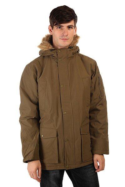 Куртка парка DC Enderby Jckt Military OliveЕсли Вы ищете стильную функциональную зимнюю куртку, тогда DC Enderby– отличный вариант. Куртка-парка из хлопка с нейлоном со съемным искусственным мехом.  Большое количество карманов внутри и снаружи вместят многие вещи, а плотная стеганая подкладка внутри и в капюшоне согреет в холодный день.<br>Технические характеристики: Утеплитель - тинсулейт.Подкладка - тафта.Фиксированный капюшон с мехом на шнурках.Съемный искусственный мех на капюшоне.Высокий воротник стойка.Плотная стеганая подкладка внутри и в капюшоне.Трикотажные внутренние манжеты.Два нагрудных кармана.Два боковых кармана для рук на кнопках.Внутренний карман на липучке.Дополнительный карман на рукаве на молнии.Фиксирующий пояс на талии.Застежка - молния+кнопки.Фасон: стандартный (regular fit).<br><br>Цвет: зеленый<br>Тип: Куртка парка<br>Возраст: Взрослый<br>Пол: Мужской