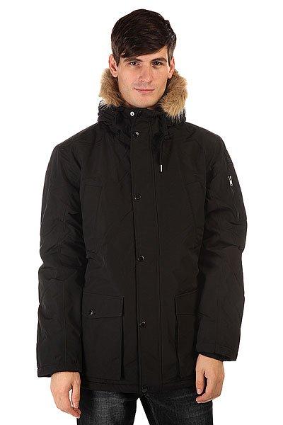 Куртка парка DC Enderby Jckt BlackЕсли Вы ищете стильную функциональную зимнюю куртку, тогда DC Enderby– отличный вариант. Куртка-парка из хлопка с нейлоном со съемным искусственным мехом.  Большое количество карманов внутри и снаружи вместят многие вещи, а плотная стеганая подкладка внутри и в капюшоне согреет в холодный день.<br>Технические характеристики: Утеплитель - тинсулейт.Подкладка - тафта.Фиксированный капюшон с мехом на шнурках.Съемный искусственный мех на капюшоне.Высокий воротник стойка.Плотная стеганая подкладка внутри и в капюшоне.Трикотажные внутренние манжеты.Два нагрудных кармана.Два боковых кармана для рук на кнопках.Внутренний карман на липучке.Дополнительный карман на рукаве на молнии.Фиксирующий пояс на талии.Застежка - молния+кнопки.Фасон: стандартный (regular fit).<br><br>Цвет: черный<br>Тип: Куртка парка<br>Возраст: Взрослый<br>Пол: Мужской