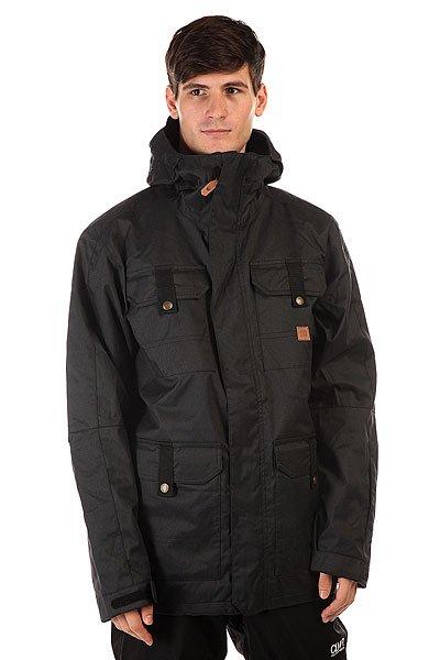 Куртка DC Servo Jkt AnthraciteСноубордическая куртка DC Servo призвана обеспечить Вам максимальный комфорт при катании в любую погоду. Влагостойкая ткань Exotex 15K надежно защитит от промокания, а подкладка из тафты добавит мягкости и удобства.   Технические характеристики: Подкладка - тафта.Водонепроницаемая мембрана Exotex 15K (15 000 мм / 15 000 г).Проклеенные швы.Фиксированный капюшон с козырьком.Высокий воротник стойка.Вентиляционные отверстия на молнии.Нагрудные карманы на кнопке с липучками.Два боковых кармана на кнопке с липучками.Внутренний сетчатый карман на липучке.Карман для ски-пасса на молнии.Карман для медиа.Фиксированная снежная юбка.Регулируемые манжеты на липучках.Лайкровые манжеты с отверстием для большого пальца.Застежка - молния+липучки.Фасон: стандартный (regular fit).<br><br>Цвет: черный<br>Тип: Куртка утепленная<br>Возраст: Взрослый<br>Пол: Мужской