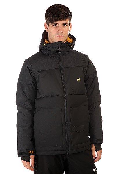 Куртка DC Downhill Jkt AnthraciteDC Downhill создана для морозных деньков и хорошего настроения, потому что надев ее даже при самых низких температурах Вы будете чувствовать комфорт и уют благодаря пуховому утеплителю в сочетании с влагостойкой тканью Exotex 10K. Вместительные карманы для рук и удобные внутренние карманы позволят захватить с собой на склон все необходимые мелочи, а снегозащитная юбка в сочетании с лайкровыми манжетами не позволит снегу проникнуть под крутку.  Технические характеристики: Утеплитель - пух Hybrid Down.Подкладка - тафта.Водонепроницаемая мембрана Exotex 10K(10 000 мм/10 000 г).Фиксированный капюшон с регулировкой.Высокий воротник - стойка.Два боковых кармана.Фиксированная снежная юбка.Внутренний сетчатый карман.Карман для медиа.Карман для ски-пасса.Регулируемые манжеты на липучках.Лайкровые манжеты с отверстием для большого пальца.Регулируемый подол на резинке.Застежка - молния.Фасон: стандартный (regular fit).<br><br>Цвет: черный<br>Тип: Куртка утепленная<br>Возраст: Взрослый<br>Пол: Мужской