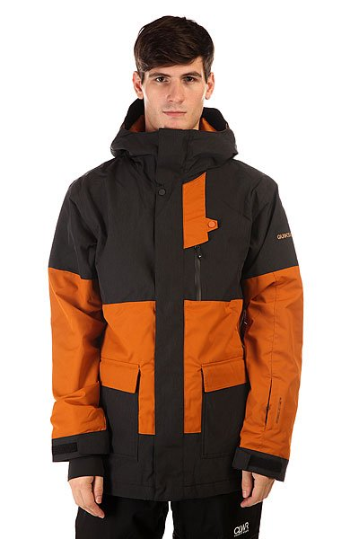 Куртка Quiksilver York Jkt BlackСпортивная классика, так можно охарактеризовать представленную куртку Quiksilver York Jkt Black. Строгий классический фасон с яркими декоративными элементами, дополненный функциональностью, делают куртку незаменимой вещью в Вашем гардеробе.   Технические характеристики: Утеплитель - 3M™ Thinsulate™.Подкладка - тафта.Водонепроницаемая мембрана Dry Flight 10K(10 000 мм/10 000г).Проклеенные швы.Высокий воротник-стойка.Фиксированный капюшон.Сеточная вентиляция.Защита подбородка от натирания молнией из микрофибры.Врезной нагрудный карман на молнии.Два боковых кармана на липучках.Медиакарман.Карман для скипасса.Карман для маски.Фиксированная противоснежная юбка из синтетической тафты.Регулируемые манжеты на липучках.Лайкровые манжеты с отверстием для большого пальца.Подол с утяжкой.Застежка - молния+липучки.Фасон: стандартный (regular fit).<br><br>Цвет: черный<br>Тип: Куртка утепленная<br>Возраст: Взрослый<br>Пол: Мужской
