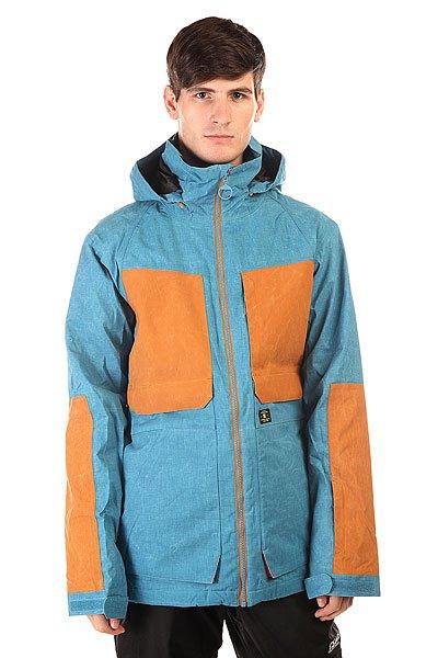 Куртка DC Kingdom Jkt FaienceСтильный и одновременно строгий дизайн этой куртки говорит об ее отличном функционале, пригодном не только для ясной теплой погоды, но и для более жестких условий в виде метели, ветра и холода.   Технические характеристики: Утеплитель - 3M™ Thinsulate™.Подкладка - тафта.Водонепроницаемая мембрана Exotex 15K (15 000 мм / 15 000 г).Проклеенные швы.Фиксированный капюшон на шнурках с тремя способами регулировки.Высокий воротник стойка.Вентиляционные отверстия на молнии.Два боковых кармана на молнии.Съемная снежная юбка.Внутренний сетчатый карман на липучке.Карман для ски-пасса на молнии.Регулируемые манжеты на липучках.Лайкровые манжеты с отверстием для большого пальца.Застежка - молния.Фасон: стандартный (regular fit).<br><br>Цвет: синий,коричневый<br>Тип: Куртка утепленная<br>Возраст: Взрослый<br>Пол: Мужской