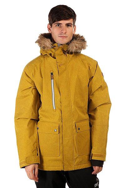 Куртка Quiksilver Selector Jkt Olive OilКуртка Quiksilver Selector выпущена в рамках современной технологичной сноубордической коллекции Modern Originals. Легкий утеплитель куртки Polyfill обладает отличными теплоизолирующими свойствами, подкладка из тафты отводит лишнюю влагу от тела, а дышащая мембранная ткань Dry Flight не допускает ее внутрь. Универсальный дизайн куртки позволяет сочетать ее с любыми сноубордическими штанами и даже свободно носить с джинсами в городских условиях.    Технические характеристики: Утеплитель - Polyfill 140 гр.Подкладка - влаговыводящая тафта+шерпа.Водонепроницаемая мембрана Dry Flight 10K(10 000 мм/10 000г).Проклеенные швы.Высокий воротник-стойка.Сеточная вентиляция.Фиксированный капюшон с мехом.Съемный мех на капюшоне.Система крепления штанов к куртке.Защита подбородка от натирания молнией из микрофибры.Нагрудный врезной карман на молнии.Два боковых кармана на кнопках.Медиакарман.Карман для скипасса.Карман для маски.Отстегивающаяся противоснежная юбка из синтетической тафты.Регулируемые манжеты на липучках.Лайкровые манжеты.Подол с утяжкой.Застежка - молния+липучки.Нагрудная молния YKK® Herringbone.Клипса для ключей.Фасон: стандартный (regular fit).<br><br>Цвет: желтый<br>Тип: Куртка утепленная<br>Возраст: Взрослый<br>Пол: Мужской