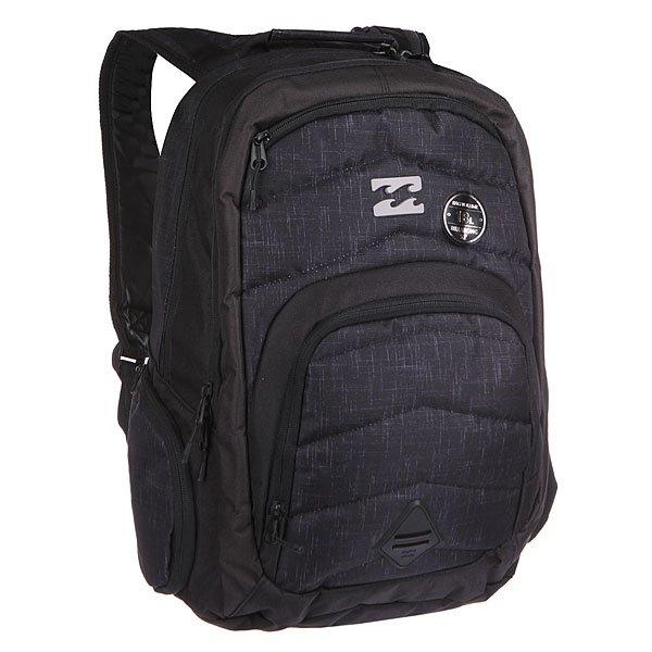 Рюкзак школьный Billabong Relay Backpack CharcoalОтличный городской рюкзак с двумя вместительными отделениями и спокойным дизайном, не перегруженным лишними деталями. Небольшой внешний карман на молнии с внутренними отсеками поможет правильно организовать необходимые мелочи, а в боковые карманы с легкостью поместиться, например, бутылка воды.                                          Технические характеристики: Небольшой внешний карман-органайзер на молнии.Ручка для переноски.Мягкая спинка.Мягкие лямки.Два вместительных отсека на молнии.Два боковых кармана на молнии.Логотип на внешней стороне.<br><br>Цвет: черный<br>Тип: Рюкзак школьный<br>Возраст: Взрослый<br>Пол: Мужской