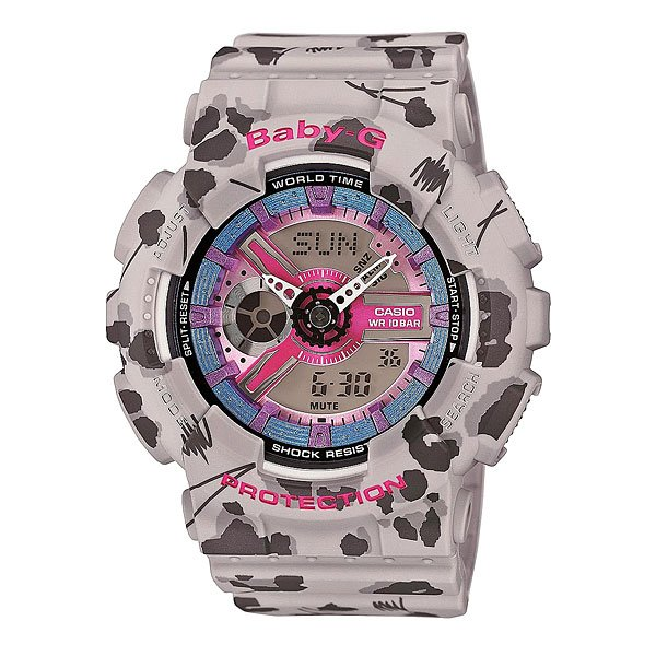 Часы детские Casio G-Shock Baby-g Ba-110fl-8a Gray