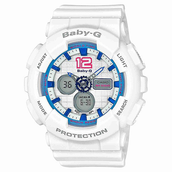 Часы детские Casio G-Shock Baby-G Ba-120-7B White
