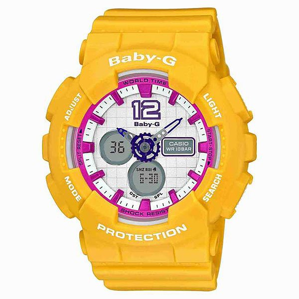 Часы женские Casio G-Shock Baby-G Ba-120-9B Yellow цена 2017
