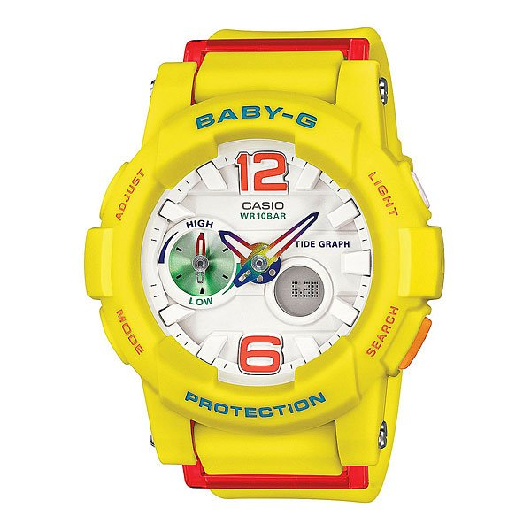 Часы женские Casio G-Shock Baby-G Bga-180-9B Yellow casio bga 180 9b