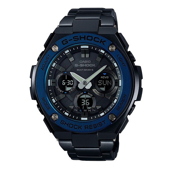 Часы Casio G-Shock Gst-W110Bd-1A2 Black/Blue casio gst w110bd 1a2 casio