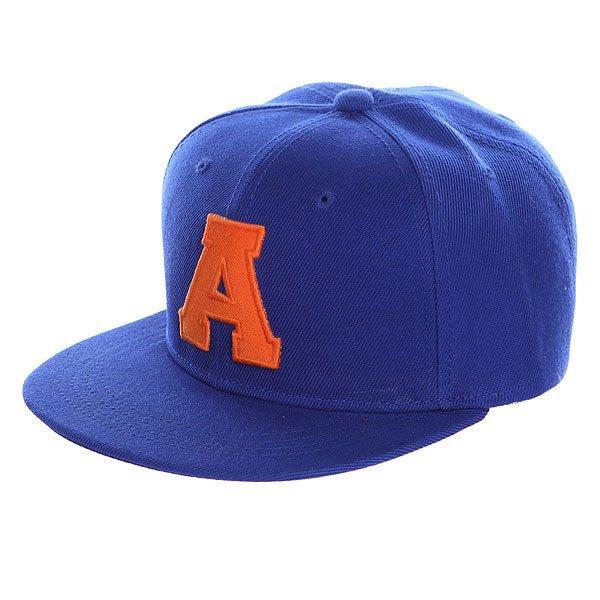 Бейсболка с прямым козырьком TrueSpin Abc Royal A бейсболка с прямым козырьком truespin splatter player dark blue