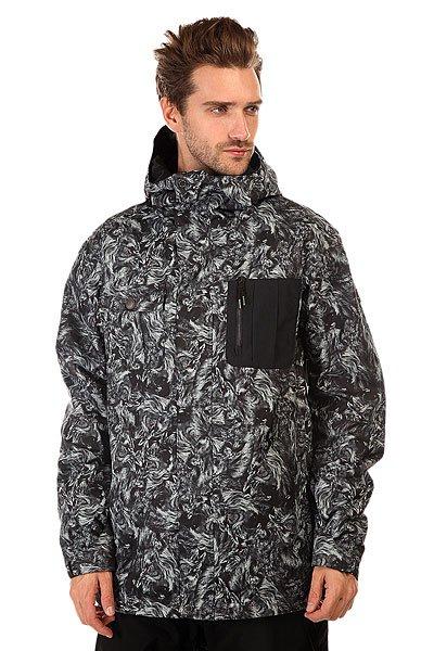 Куртка Quiksilver Illusion Angry LionМечтаете о приключениях? Тогда эта сноубордическая куртка создана именно для вас!  Преимущества:    Отличная мембрана 10K (10000 мм), которая защитит от проникновения воды.  Куртка выполнена с применением &amp;nbsp;технологии Dry Flight, благодаря которой ткань не пропускает воду внутрь и отлично дышит.  Вентиляционные отверстия на молниях позволяют регулировать температуру.  Остальные преимущества:    Снегозащитная юбка.  Специальный карман для маски.  Фиксация капюшона по высоте.  Возможность регулировки низа куртки специальным шнуром.  Vent -удобные вентиляционные отверстия на молниях в области подмышек.  Critically Taped Seams &amp;ndash; все критические швы проклеены, высокотехнологичный утеплитель.  Отличная сноубордическая куртка с оригинальным принтом идеально подходит  для покорения вершин. Утеплитель 3M™ Thinsulate™ повышает ваши шансы отлично провести время на открытом воздухе и получить удовольствие от активного отдыха. Коллекция Snow Modern Originals.  Технические характеристики: Подкладка -  тафта.Водонепроницаемая мембрана Dry Flight 10K(10 000 мм/10 000г).Критические швы проклеены.Высокий воротник-стойка.Фиксированный капюшон.Защита подбородка от натирания молнией из микрофибры.Нагрудный карман на молнии.Два боковых кармана на молнии.Потайной карман.Сеточная вентиляция.Медиакарман.Карман для маски.Система крепления штанов к куртке.Фиксированная противоснежная юбка из синтетической тафты.Регулируемые манжеты на липучках.Подол с утяжкой.Застежка - молния и кнопки.Фасон - стандартный (regular fit).<br><br>Цвет: черный,серый<br>Тип: Куртка утепленная<br>Возраст: Взрослый<br>Пол: Мужской