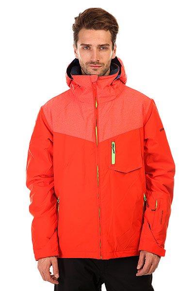 Куртка Quiksilver Mission Plus PoincianaМужская сноубордическая куртка Mission Plus из новой сноубордической коллекции Snow Everyday. Современный утеплитель Polyfill обеспечит тепло и комфортное катание в течении всего дня.  Можете быть уверены что снег, ветер и непогода не помешают Вам получить максимум удовольствия от катания.  Технические характеристики: Подкладка -  влаговыводящая тафта.Водонепроницаемая мембрана Dry Flight 10K(10 000 мм/10 000г).Критические швы проклеены.Высокий воротник-стойка.Защита подбородка от натирания молнией из микрофибры.Нагрудный карман на молнии.Два боковых кармана на молнии.Потайной карман.Сеточная вентиляция.Карман для скипасса.Карман для маски.Система крепления штанов к куртке.Фиксированная противоснежная юбка из синтетической тафты.Регулируемые манжеты на липучках.Лайкровые манжеты.Подол с утяжкой.Застежка - молния.Фасон - узкий (slim fit).<br><br>Цвет: оранжевый<br>Тип: Куртка утепленная<br>Возраст: Взрослый<br>Пол: Мужской