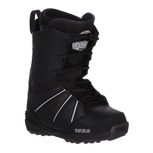 Ботинки для сноуборда Thirty Two Lashed Xlt BlackЛегкие ботинки средней жесткости с классической шнуровкой созданы для оптимального комфорта. Вам не захочется их снимать!Технические характеристики: Влагонепроницаемая поверхность.Нейлоновый мягкий утепленный анатомический внутренний носок с тройной подкладкой Level 3.Артикуляционные мягкие манжеты.Классическая мягкая стелька Level 2.Внутренняя ультра лёгкая амортизирующая анатомическая стелька EVA foam.Специальное антимикробное покрытие для предотвращении запаха.Смягчающая внутренняя прокладка из пенорезины STI Evolution Foam для улучшения амортизации.Система амортизации и шумопоглощения G2 Gel (мягкие гелевые вставки в зонах наибольшей нагрузки).Мягкий оптимизированный язычок 3D.Функциональная подошва из натурального каучука.Традиционная шнуровка.<br><br>Цвет: черный<br>Тип: Ботинки для сноуборда<br>Возраст: Взрослый<br>Пол: Мужской