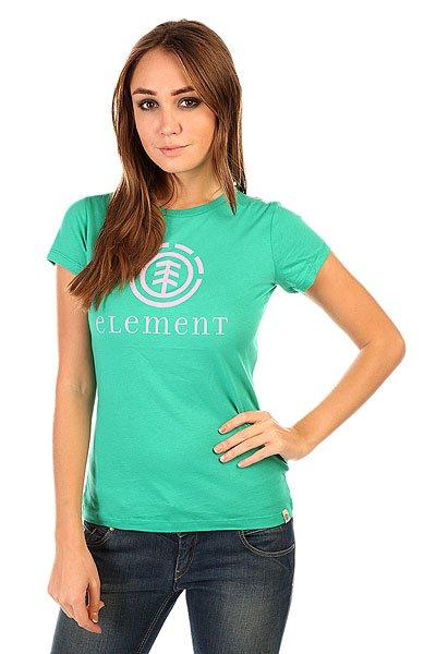Футболка женская Element Logo Sscn Shaking Green<br><br>Цвет: зеленый<br>Тип: Футболка<br>Возраст: Взрослый<br>Пол: Женский