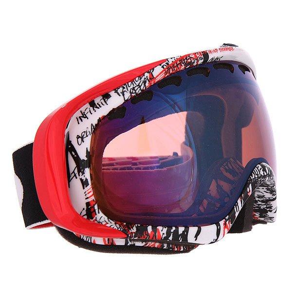 Маска для сноуборда Oakley Crowbar Seth Morrison Signature Redhite G30