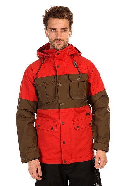 Куртка Burton Mb Frontier Jk Campfire/WoodyПолучите заряд тепла даже в самые холодные зимние дни с курткой от Burton. Современный утеплитель Thinsulate, а также мембрана DryRideDurashell надежно защитят Вас от мороза и влаги.Технические характеристики: Мембрана DryRideDurashell.Подкладка из тафты.Проклеенные швы.Фиксированный капюшон с регулировкой.Нагрудные карманы на кнопке.Карманы для рук на кнопках.Сеточная вентиляция.Медиа карман.Фиксированная снежная юбка.Карман для маски.Подол с утяжкой.Регулируемые манжеты на липучках.Застежка - молния и кнопки.Фасон стандартный (Regular Fit).<br><br>Цвет: красный,зеленый<br>Тип: Куртка утепленная<br>Возраст: Взрослый<br>Пол: Мужской