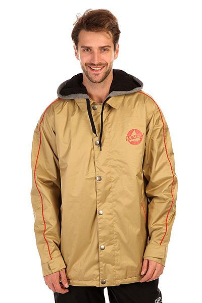 Куртка Burton Mb Courtside Jk PuttyМужская сноубордическая куртка Burton идеально подходит как для покорения вершин, так и для повседневной жизни. Современный утеплитель 3M™ Thinsulate™ обеспечит тепло и комфортное катание в течении всего дня.  Можете быть уверены что снег, ветер и непогода не помешают Вам получить максимум удовольствия от катания.Технические характеристики: Мембрана DryRideDurashell.Подкладка из тафты.Проклеенные швы.Воротник-поло.Капюшон на шнурках.Карманы для рук.Вентиляционные отверстия на молнии.Медиа карман.Карман для ски-пасса.Подол с утяжкой.Регулируемые манжеты на липучках.Застежка - молния и кнопки.Фасон стандартный (Regular Fit).<br><br>Цвет: бежевый<br>Тип: Куртка утепленная<br>Возраст: Взрослый<br>Пол: Мужской