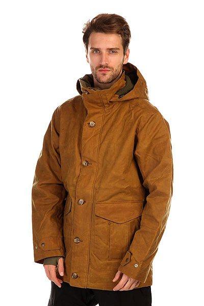 Куртка Burton Filson X Sentry Jkt Tin Oil ClothПро модель от Filson®. Сноубордическая куртка Burton Filson X Sentry Jkt готова обеспечить Вас теплом и комфортом в любых погодных условиях! За водонепроницаемость куртки отвечает дышащая мембрана Dryride Durashell™, а за термостойкость - утеплитель 3M™ Thinsulate™.Технические характеристики:Подкладка - мягкая тафта и фланель.Водонепроницаемая мембрана Dryride Durashell™.Полностью проклеенные швы.Высокий воротник-стойка.Фиксированный капюшон.Карманы для рук.Медиакарман.Карман для ски-пасса.Карман для маски.Потайной карман на пуговице.Вентиляционные отверстия на молнии.Отстегивающаяся снежная юбка.Система крепления куртки к штанам.Регулируемые манжеты на кнопках.Лайкровые манжеты с отверстием для большого пальца.Подол с утяжкой.Застежка - молния и пуговицы.Фасон - стандартный (regular fit).<br><br>Цвет: коричневый<br>Тип: Куртка утепленная<br>Возраст: Взрослый<br>Пол: Мужской