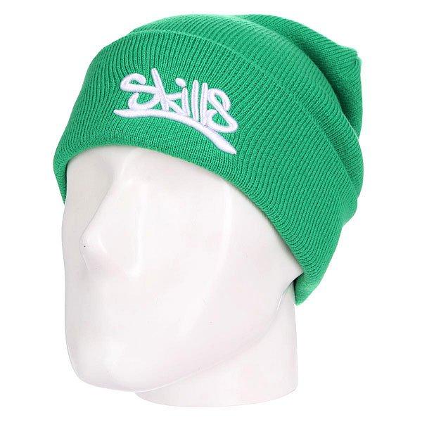 Шапка Skills 001 GreenШапка Skills  - мастхв лбого гардероба. Не дай себе замерзнуть!Характеристики:Изготовлена из 100% акрила. Широкий отворот. Вышитый логотип на лицевой части.<br><br>Цвет: зеленый<br>Тип: Шапка<br>Возраст: Взрослый<br>Пол: Мужской