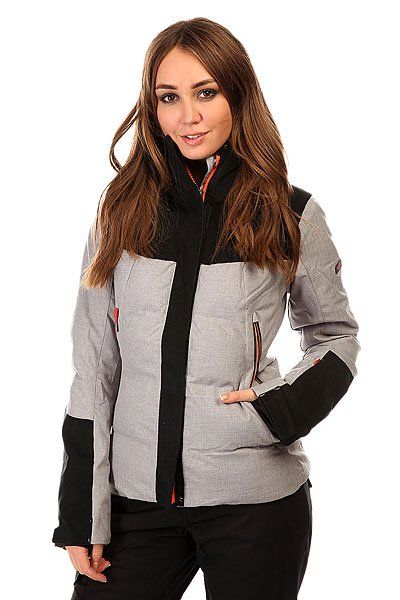 Куртка женская Roxy Flicker Jk Heritage Heather BIOTHERMЖенская куртка для зимних видов спорта Roxy Flicker. Сделана из полиэстера, одобренного международной экологической организацией Bluesign®.Характеристики:Водостойкая и дышащая мембрана DRY-FLIGHT 15K.Критические швы проклеены. Утеплитель: тело - 3M™ Thinsulate™ тип TIB (350 гр), рукава и плечи - 3M™ Thinsulate™ тип М (100гр). Легкая подкладка из тафеты. Фиксированная снежная юбка. Система крепления к штанам.Карман для медиа. Карман для ски-пасса. Внутренний карман для маски с материалом для протирки линз. Регулируемые манжеты, внутренние эластичные манжеты.Вентиляционные вставки под руками. Зауженный крой.<br><br>Цвет: черный,серый<br>Тип: Куртка утепленная<br>Возраст: Взрослый<br>Пол: Женский