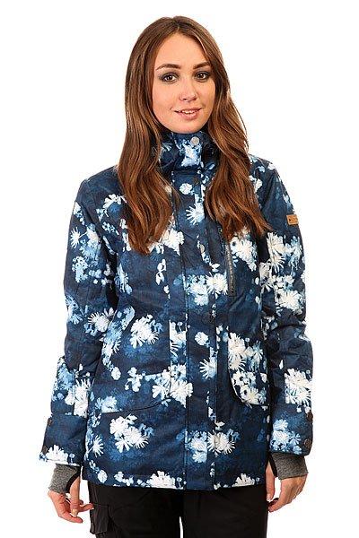 Куртка женская Roxy Andie Jk Ina FloralГотовая к суровым зимним условиям, куртка Roxy Andie уверенно защитит Вас от непогоды, не жертвуя стилем. Яркие цвета и стильный принт привлекут внимание и выделят из толпы на склоне. Мембрана Dry Flight 10K, проклеенные критические швы и утеплитель 3M™ Thinsulate™ гарантированно сохранит Вас в тепле и сухости, а снегозащитная юбка и внутренние манжеты с отверстиями для больших пальцев не допустят попадания снега под одежду. Характеристики:Водостойкая и дышащая мембрана Dry Flight 10K (10 000 мм /10 000 г). Утеплитель 3M™ Thinsulate™ Type M: 80 г тело, 40 г рукава и капюшон. Подкладка из тафты и трикотажа с начесом. Свободный крой Tailored.Проклеенные критические швы. Несъёмный капюшон регулируется 3 способами. Снегозащитная юбка. Система крепления куртки к штанам. Воротник с микрофиброй для защиты подбородка. Нагрудный карман на молнии. Внутренний карман для маски. Эластичные внутренние манжеты с отверстиями для больших пальцев. Карман для ски-пасса на рукаве. Сетчатые карманы для вентиляции. Карабин для ключей.<br><br>Цвет: синий,белый<br>Тип: Куртка утепленная<br>Возраст: Взрослый<br>Пол: Женский