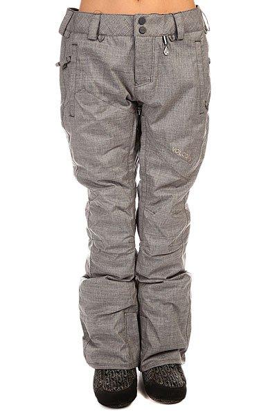 Штаны сноубордические женские Volcom Ignition Ins Pant Brushed NickelУтепленные женские брюки Volcom защитят от холода и влаги в любую погоду.Технические характеристики: Полностью проклеенные швы.Синтетический утеплитель 60г.Сеточная вентиляция на молнии.Регулируемый внутренний пояс.Снегозащитные гетры.Прямой крой.Дышащая подкладка V-Science.Застежка Zip Tech - крепление к куртке.Карманы для рук на молнии.Задний карман.Фасон стандартный (regular fit).<br><br>Цвет: серый<br>Тип: Штаны сноубордические<br>Возраст: Взрослый<br>Пол: Женский