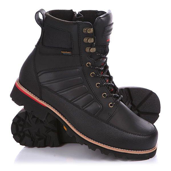Ботинки зимние Quiksilver The Summit Solid BlackВодонепроницаемые ботинки от Quiksilver обеспечат Вам надежную защиту от мороза и влаги.Технические характеристики: Водостойкий верх из лицевой кожи.Водонепроницаемая конструкция Hydroguard.Подкладка Cosmo-therm – теплая, дышащая и уютная.Защита от налипания грязи и усиленная пятка.Двухцветные шнурки в крапинку.Особая конструкция с «прошвой» – кожаной вставкой между внутренником и верхом.Прочная подошва Vibram с отличным коэффициентом сцепления.Материал подошвы - каучук.<br><br>Цвет: черный<br>Тип: Ботинки зимние<br>Возраст: Взрослый<br>Пол: Мужской