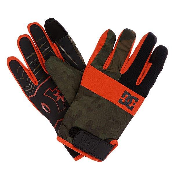 Перчатки сноубордические DC Antuco Glove Camo Lodge<br><br>Цвет: черный,зеленый,оранжевый<br>Тип: Перчатки сноубордические<br>Возраст: Взрослый<br>Пол: Мужской