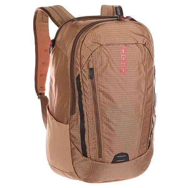 Рюкзак городской Ogio Apollo Pack Khaki/RedЭтот рюкзак – отличная замена сумке для ноутбука. Достаточно вместительный, благодаря чему у Вас есть возможность взять с собой множество необходимых вещей, и при этом совсем не громоздкий. Множество специализированных карманов помогают распределить вещи в рюкзаке наиболее оптимальным способом, а современный дизайн обеспечивает отличный внешний вид, который точно не испортит Ваш образ.Технические характеристики: Отсек с мягкой подкладкой для ноутбука диагональю до 15 дюймов.Два просторных основных отдела со специализированными отсеками.Карман-органайзер.Отсек для планшета с защитной отделкой из пены EVA.Передний карман быстрого доступа на вертикальной молнии.Боковые кармашки для бутылок.Эргономичные плечевые лямки из пены EVA с ремешком на груди.Высококачественные большие YKK молнии.<br><br>Цвет: коричневый,красный<br>Тип: Рюкзак городской<br>Возраст: Взрослый