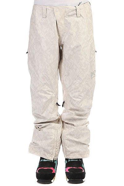 Брюки женские Burton Stratus White PythonКомфортные, теплые и стильные штаны, стилизованные под змеиную кожу.Технические характеристики:Водонепроницаемая и дышащая мембрана Gore-Tex®.Ткань DRYRIDE.Полностью проклеенные швы GORE-SEAM®.Подкладка из тафты.Вентиляционные отверстия на молнии.Регулировка талии.Края штанин на молнии.Петли для ремня.Карманы для рук на молнии.Задний карман.Фасон стандартный (regular fit).<br><br>Цвет: серый<br>Тип: Штаны сноубордические<br>Возраст: Взрослый<br>Пол: Женский