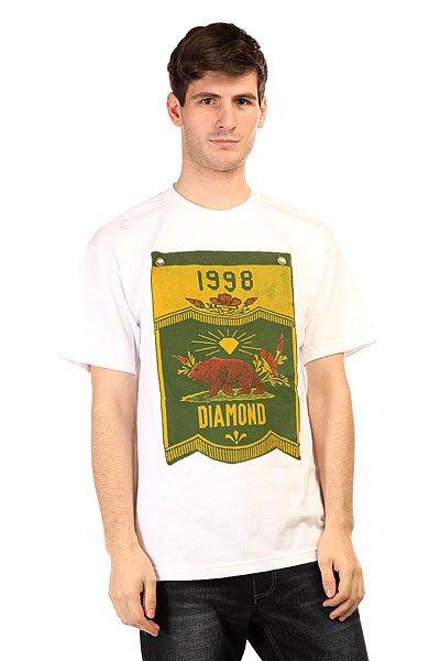 Футболка Diamond Banner X Grizzly Tee White<br><br>Цвет: белый<br>Тип: Футболка<br>Возраст: Взрослый<br>Пол: Мужской
