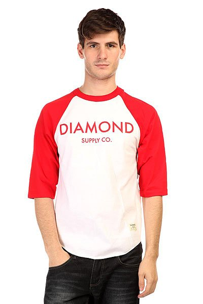 Лонгслив Diamond Classic Raglan White/Red