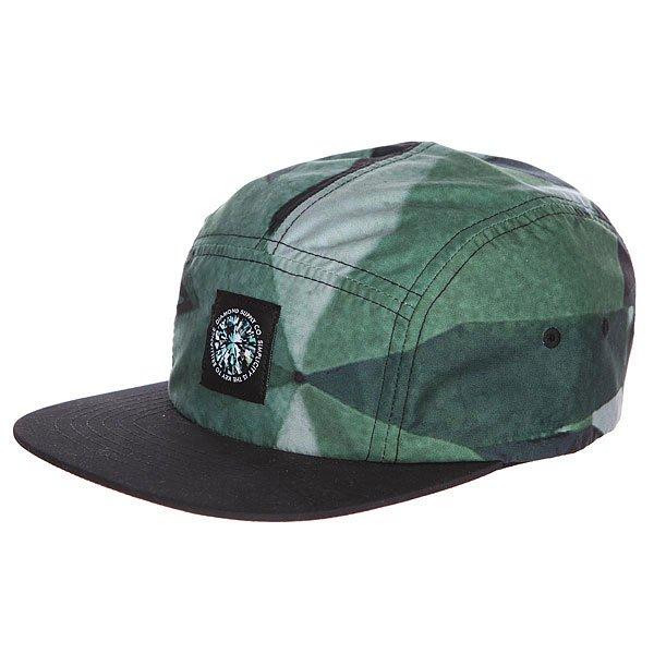 Бейсболка пятипанелька Diamond Simplicity Camper Green<br><br>Цвет: зеленый,черный<br>Тип: Бейсболка пятипанелька<br>Возраст: Взрослый<br>Пол: Мужской