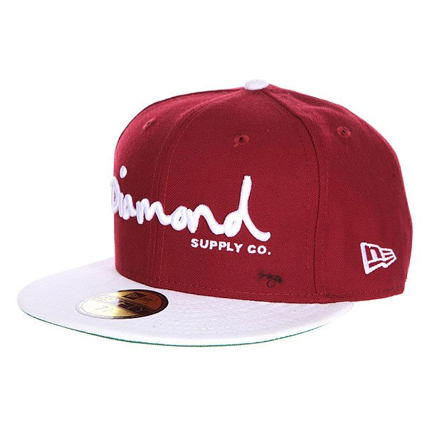 ��������� � ������ ��������� Diamond Og Script Fitted Hat Cardinal