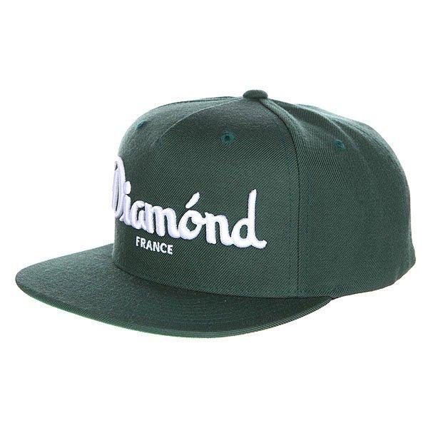 Бейсболка с прямым козырьком Diamond Champagne Snapback Green<br><br>Цвет: зеленый<br>Тип: Бейсболка с прямым козырьком<br>Возраст: Взрослый<br>Пол: Мужской